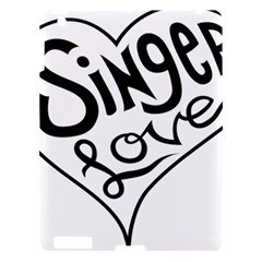 Singer Love Sign Heart Apple Ipad 3/4 Hardshell Case by Mariart