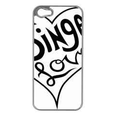 Singer Love Sign Heart Apple Iphone 5 Case (silver) by Mariart