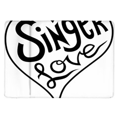 Singer Love Sign Heart Samsung Galaxy Tab 10 1  P7500 Flip Case by Mariart