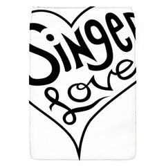 Singer Love Sign Heart Flap Covers (s)  by Mariart
