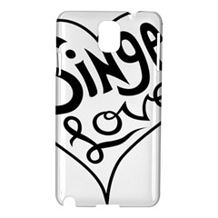 Singer Love Sign Heart Samsung Galaxy Note 3 N9005 Hardshell Case by Mariart