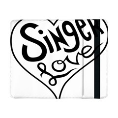 Singer Love Sign Heart Samsung Galaxy Tab Pro 8 4  Flip Case by Mariart