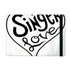 Singer Love Sign Heart Ipad Mini 2 Flip Cases by Mariart
