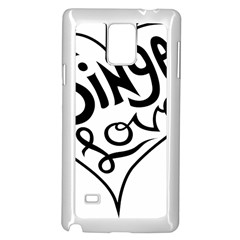 Singer Love Sign Heart Samsung Galaxy Note 4 Case (white) by Mariart