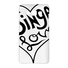 Singer Love Sign Heart Samsung Galaxy A5 Hardshell Case  by Mariart