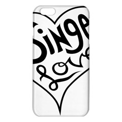Singer Love Sign Heart Iphone 6 Plus/6s Plus Tpu Case by Mariart