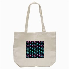 Polkadot Plaid Circle Line Pink Purple Blue Tote Bag (cream) by Mariart