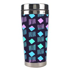 Polkadot Plaid Circle Line Pink Purple Blue Stainless Steel Travel Tumblers by Mariart