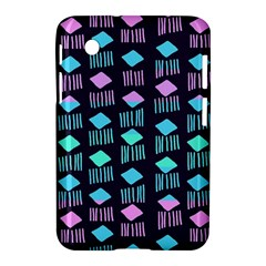 Polkadot Plaid Circle Line Pink Purple Blue Samsung Galaxy Tab 2 (7 ) P3100 Hardshell Case  by Mariart