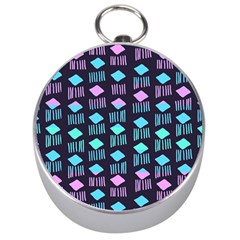 Polkadot Plaid Circle Line Pink Purple Blue Silver Compasses by Mariart