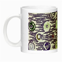 Painted Circles           Night Luminous Mug by LalyLauraFLM