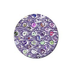 Painted Circles           Rubber Coaster (round) by LalyLauraFLM