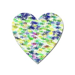 Paint On A White Background           Magnet (heart) by LalyLauraFLM