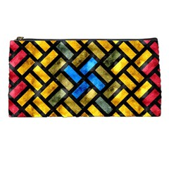 Metal Rectangles      Pencil Case by LalyLauraFLM