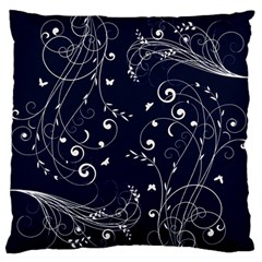 Floral Design Large Flano Cushion Case (one Side)