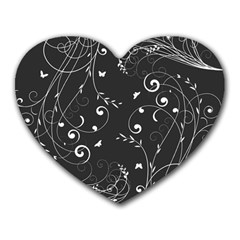 Floral Design Heart Mousepads