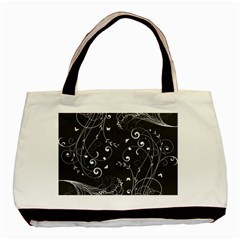 Floral Design Basic Tote Bag (two Sides) by ValentinaDesign