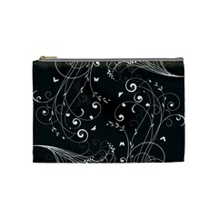Floral Design Cosmetic Bag (medium)  by ValentinaDesign