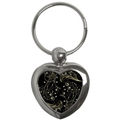 Floral Design Key Chains (heart)  by ValentinaDesign