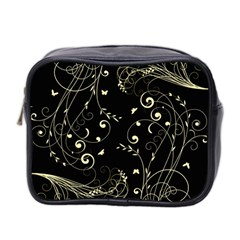 Floral Design Mini Toiletries Bag 2 Side by ValentinaDesign