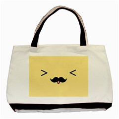 Mustache Basic Tote Bag (two Sides) by Nexatart