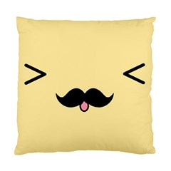 Mustache Standard Cushion Case (two Sides) by Nexatart