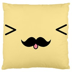 Mustache Large Cushion Case (two Sides) by Nexatart