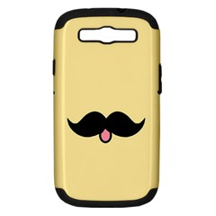 Mustache Samsung Galaxy S Iii Hardshell Case (pc+silicone)
