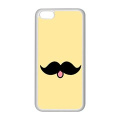 Mustache Apple Iphone 5c Seamless Case (white) by Nexatart