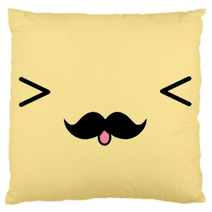 Mustache Standard Flano Cushion Case (One Side)