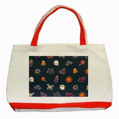Kawaiieen Pattern Classic Tote Bag (red)