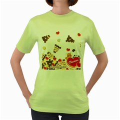 Chocopa Panda Women s Green T Shirt
