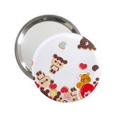 Chocopa Panda 2 25  Handbag Mirrors by Nexatart