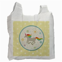 Unicorn Pattern Recycle Bag (two Side)  by Nexatart