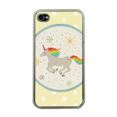 Unicorn Pattern Apple Iphone 4 Case (clear) by Nexatart