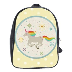 Unicorn Pattern School Bags (xl)  by Nexatart