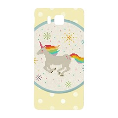 Unicorn Pattern Samsung Galaxy Alpha Hardshell Back Case by Nexatart