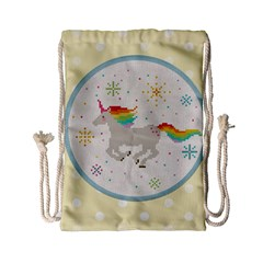 Unicorn Pattern Drawstring Bag (small) by Nexatart