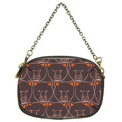 Bears Pattern Chain Purses (one Side)  by Nexatart