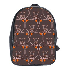 Bears Pattern School Bags(large)  by Nexatart