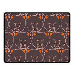 Bears Pattern Fleece Blanket (small) by Nexatart
