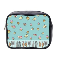 Kawaii Kitchen Border Mini Toiletries Bag 2-side