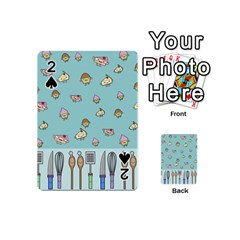 Kawaii Kitchen Border Playing Cards 54 (mini)  by Nexatart