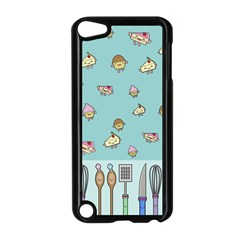 Kawaii Kitchen Border Apple Ipod Touch 5 Case (black) by Nexatart
