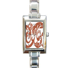 Sign Red Polka Rectangle Italian Charm Watch by Mariart