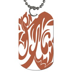 Sign Red Polka Dog Tag (two Sides) by Mariart