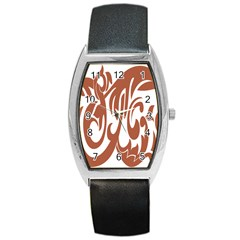Sign Red Polka Barrel Style Metal Watch by Mariart