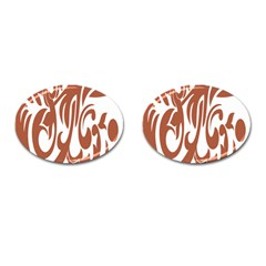 Sign Red Polka Cufflinks (oval) by Mariart