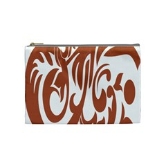 Sign Red Polka Cosmetic Bag (medium)
