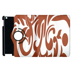 Sign Red Polka Apple Ipad 3/4 Flip 360 Case by Mariart